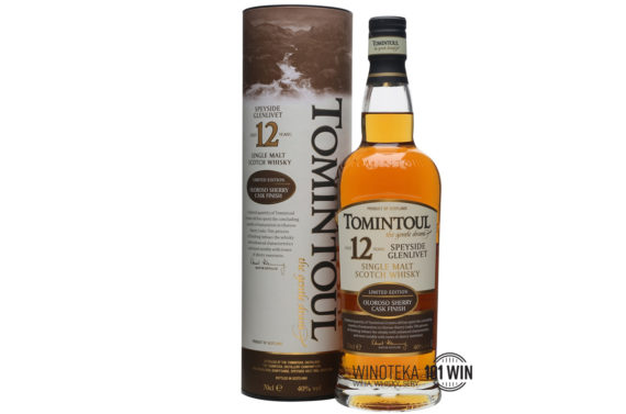 Whisky Tomintoul 12YO Oloroso 40% 0.7l - Sklep Whisky Szczecin