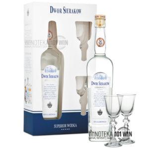 Dwór Sieraków Superior Wódka z kieliszkami - Sklep Wódki Premium Szczecin